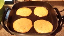 Pumpkin pancakes - cooking